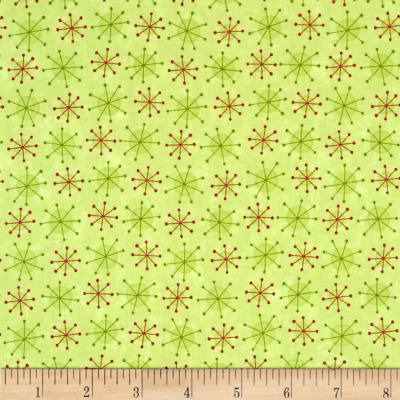 Moda Very Merry Twinkles Light Green