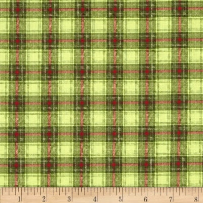 Moda Very Merry Plaid Light Green