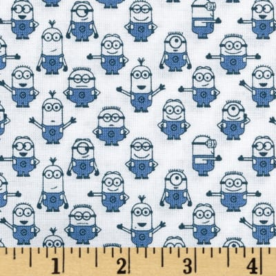 QT Fabrics Universal Despicable Me 1 in A Minion Graphic Set Minions White