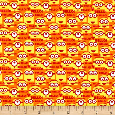 QT Fabrics Universal Despicable Me 1 in A Minion Bello Minions Orange