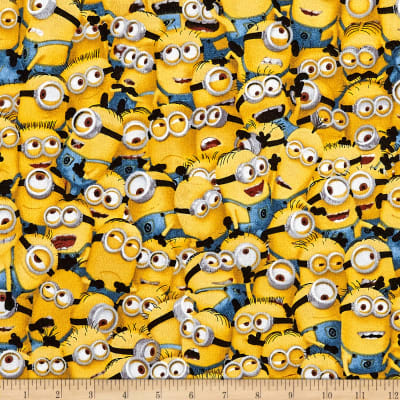 Universal Despicable Me Flannel Packed Minions Yellow