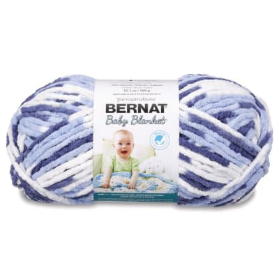 Bernat Baby Blanket Big Ball Yarn (04134) Blue Dream