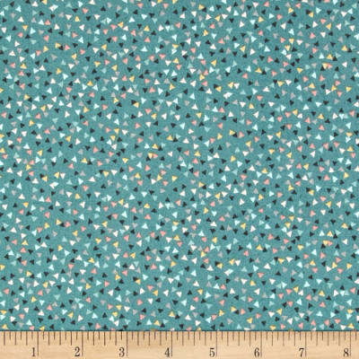 Sophia Mini Triangles Teal/Multi