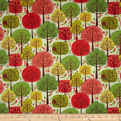 Forest Friends Woods Red/Green/Brown