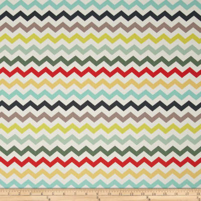 ADORNit Nested Owls Chevron Multi Mint
