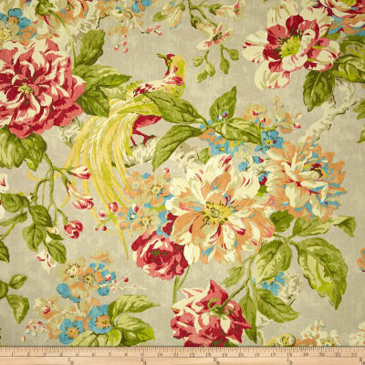 Waverly Floral Engagement Twill Poppy