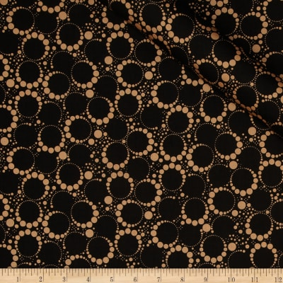 Orbit Metallic Small Circle Dot Copper/Black