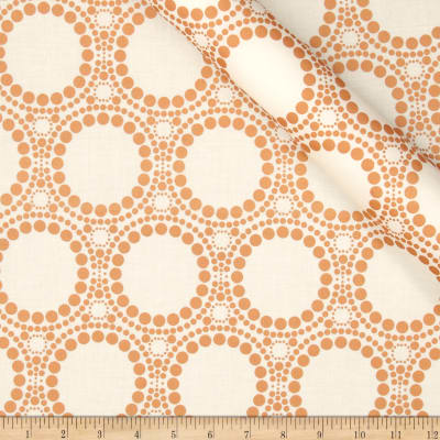 Orbit Metallic Large Circle Dot Copper/Cream