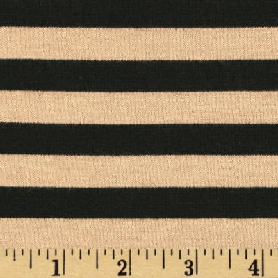 Designer Ponte De Roma Knit Stripe Tan/Black
