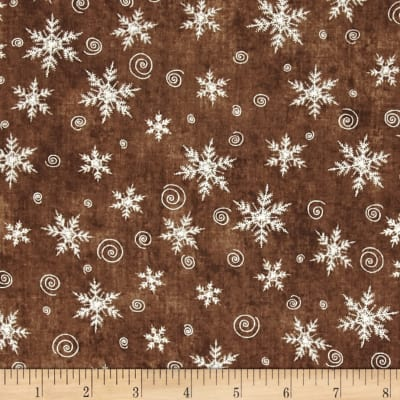 Christmas Whimsy Snowflakes Brown