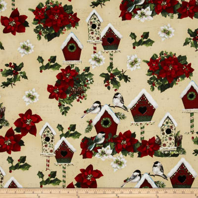 Home for the Holidays Toile Cream