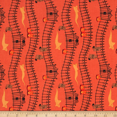 Haunted Hill Small Pictorial Stripe Orange