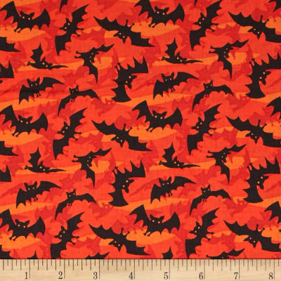Haunted Hill Small Toss Bats Orange