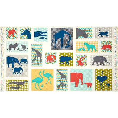 #Baby Chic Allover Blocks Teal