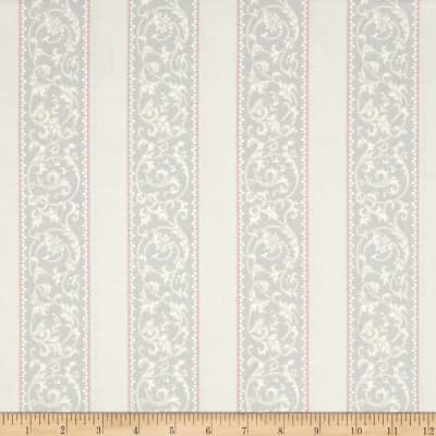 Downton Abbey Celebrations Metallic Ribbon Stripe Grey