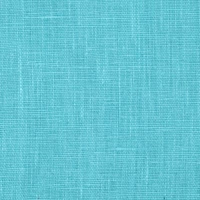 European 100% Washed Linen Turquoise