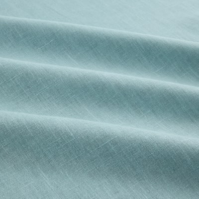 European 100% Washed Linen Mosaic Blue