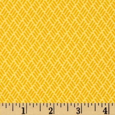 Moda Simply Colorful Hash Marks Yellow
