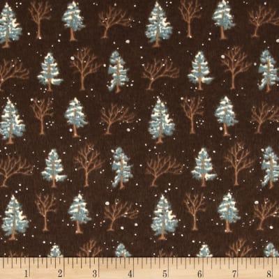 Moda Winter Forest Flannel Trees Sable