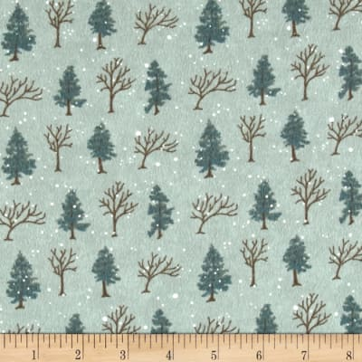 Moda Winter Forest Flannel Trees Eucalyptus
