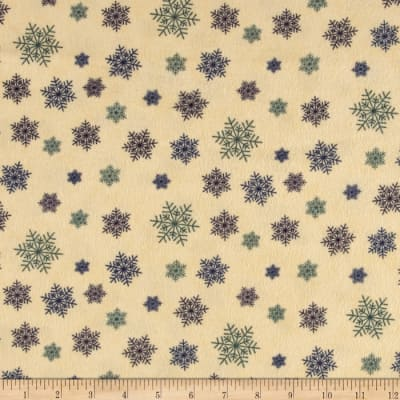 Moda Winter Forest Flannel Snowflakes Multi