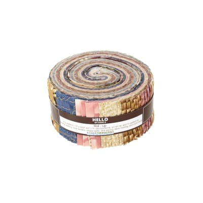 """Kaufman Imperial Collection Garden 2.5"""" Jelly Roll Multi"""