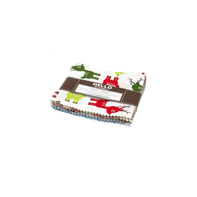 "Kaufman Jingle 5"" Charm Pack Multi"