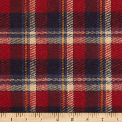 Primo Country Squire Flannel Plaid 3 Blue/Red/Cream