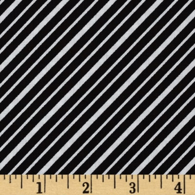 Kaufman Remix Diagonal Stripes Black