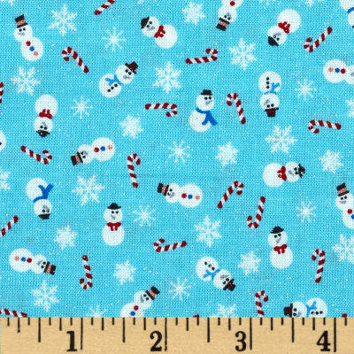 Let It Snow Glitter Mini Snowman Blue