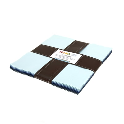 "Kaufman Kona Solids Overcast 10"" Layer Cake"