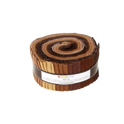 "Kaufman Kona Solids Sediment 2.5""Jelly Roll"