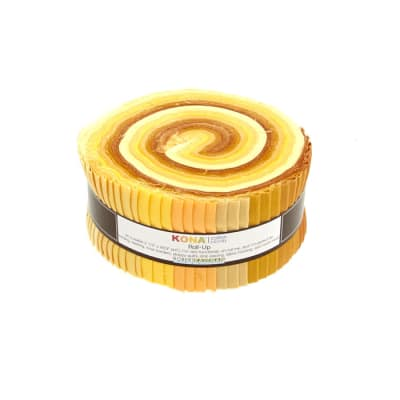 "Kaufman Kona Solids Mustard Seed 2.5"" Jelly Roll"