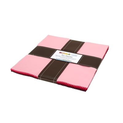 "Kaufman Kona Solids Fragrant Fuchsia 10"" Layer Cake"