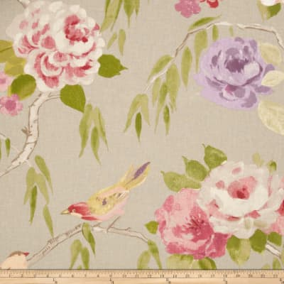Hamilton Peaches Linen Floral Pebble