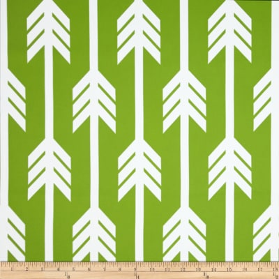 RCA Arrows Blackout Drapery Fabrics Green/White