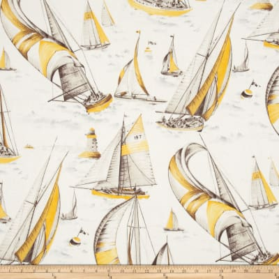 Largo Acrylic Indoor/Outdoor Sailboat Yellow