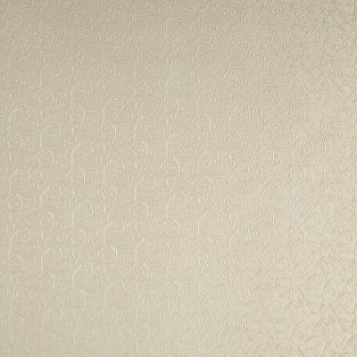 Luxury Faux Leather Embossed Floral Cream