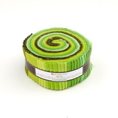 "Kaufman Kona Solids Pleasant Pastures 2.5"" Jelly Roll"