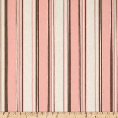 Linen/Cotton Blend Folly Stripe Coral Sand
