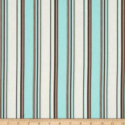 Linen/Cotton Blend Folly Stripe Tidal Pool
