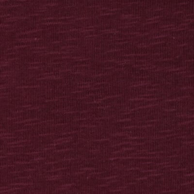 Cotton Slub Rib Knit Maroon