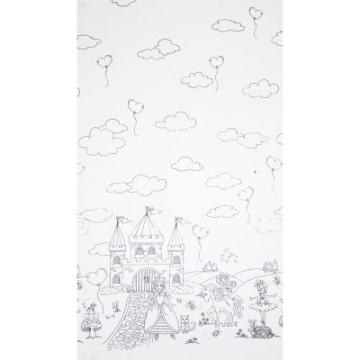 "Michael Miller Color Me A Royal Life 24"" Panel White"
