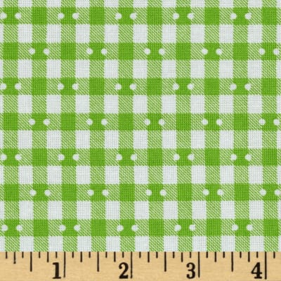 Farmhouse Blooms Gingham Lime