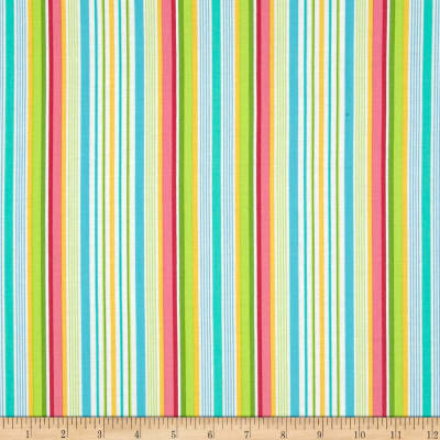 Farmhouse Blooms Multi Stripe Yellow/Green