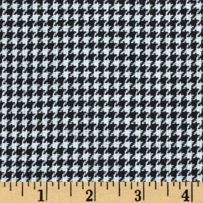Small Woven Houndstooth Black/White