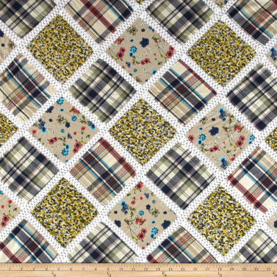 Vintage Cuts Patchwork Natural