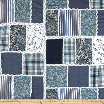 Vintage Cuts Patchwork Blue/Grey