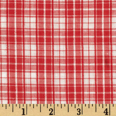 Seersucker Plaid Red/White