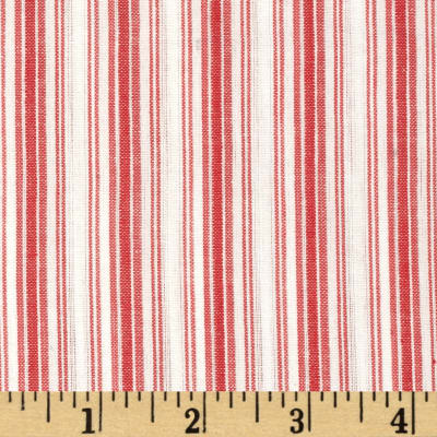 Seersucker Stripe Red/White